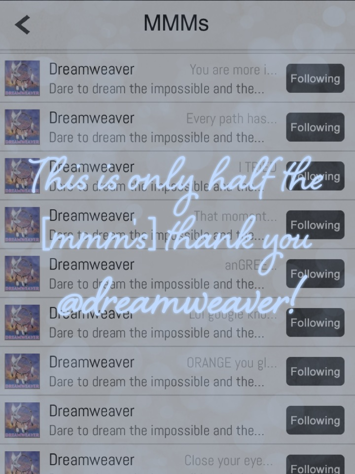 This is only half the [mmm's] thank you @dreamweaver!