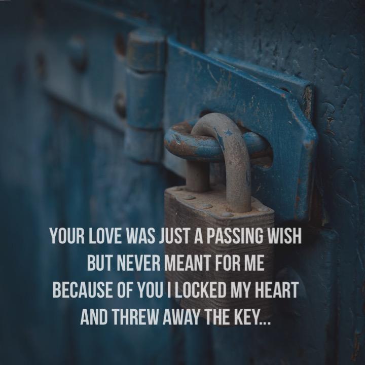 heart locked away