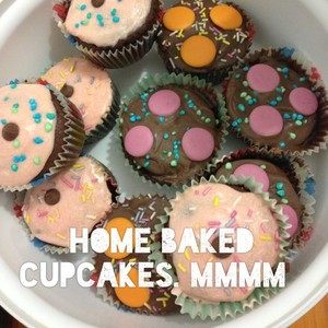 Home baked cupcakes. Mmmm
