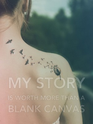 my story is worth more than a blank canvas