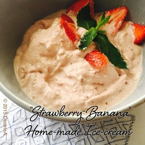 """Strawberry-Banana"" Home-made Ice-cream"