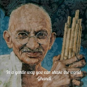 In a gentle way you can shake the world -Ghandi