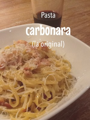 Pasta carbonara (la original)