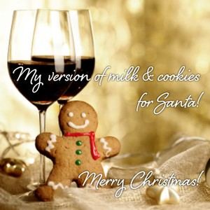 My version of milk & cookies for Santa! Merry Christmas!