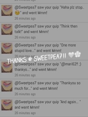 Thanks @ Sweetpea7!! 💜🌸