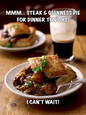 Mmm... Steak & Guinness Pie for dinner tonight! I can't wait!