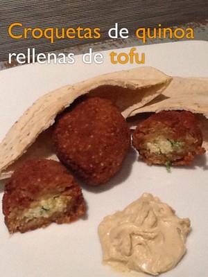 Croquetas de quinoa rellenas de tofu