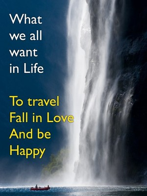 What we all want in Life To travel Fall in Love And be Happy