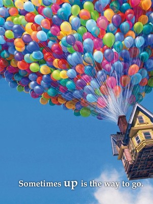 Sometimes up is the way to go.