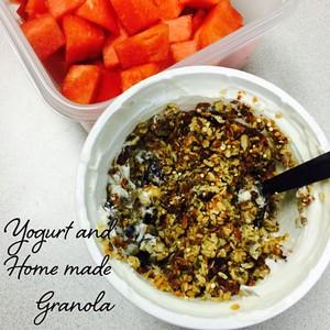 Yogurt and Home made Granola