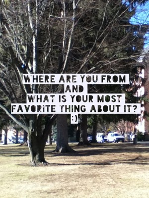 Where are you from and what is your most favorite thing about it? :)