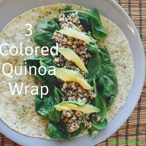 3 Colored Quinoa Wrap