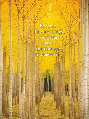Become the very things you never have the courage to believe in.