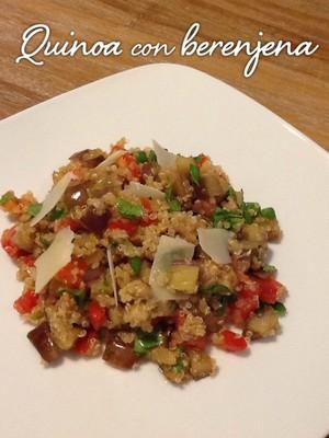 Quinoa con berenjena