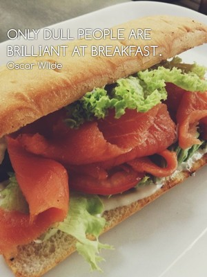 Only dull people are brilliant at breakfast. Oscar Wilde
