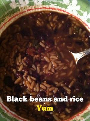 Black beans and rice Yum