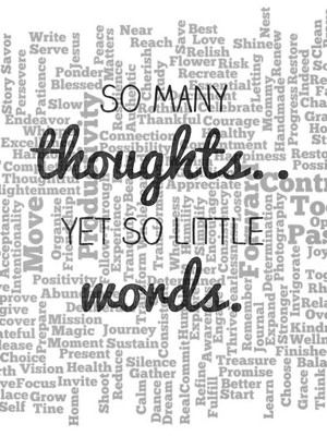 So many thoughts.. Yet so little words.