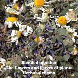 Blended together The flowers and leaves of plants Herbal alchemy