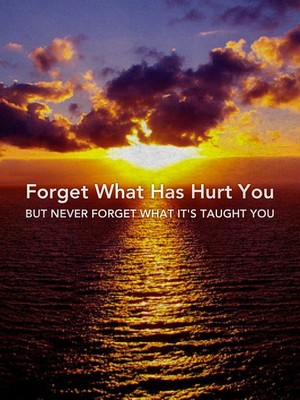 Forget What Has Hurt You But Never Forget What It's Taught You