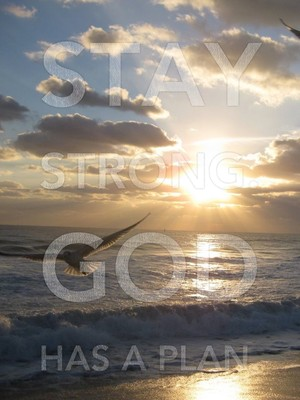 Stay strong. God has a plan.