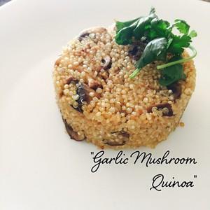 """""""Garlic Mushroom Quinoa"""""""