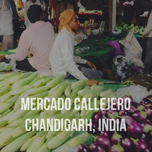 Mercado callejero Chandigarh, India