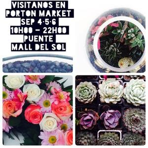 Visitanos en Porton Market Sep 4•5•6 10h00 - 22h00 Puente Mall del Sol