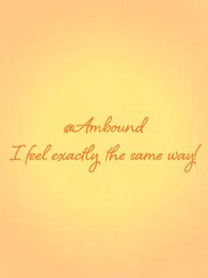 @Ambound I feel exactly the same way!