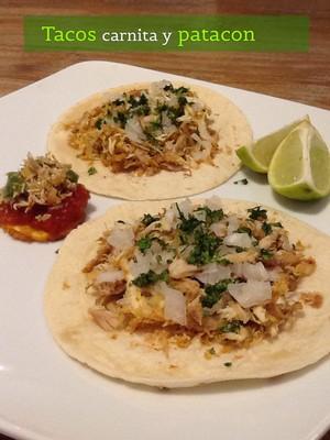 Tacos carnita y patacon