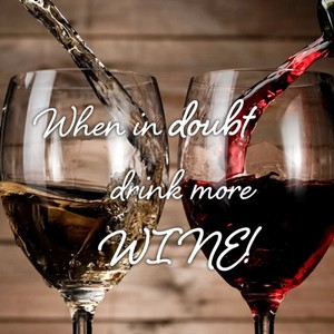 When in doubt drink more WINE!