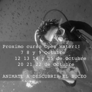 Proximo curso Open Water!! 7 8 y 9 Octubre 12 13 14 y 15 de Octubre 20 21 22 de Octubre ANIMATE A DESCUBRIR EL BUCEO