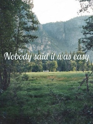 Nobody said it was easy ...
