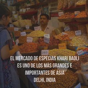 El mercado de especias Khari Baoli es uno de los más grandes e importantes de Asia Delhi, India