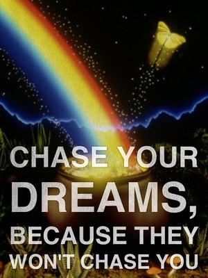 Chase Your Dreams, Because They Won't Chase You