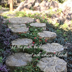 If the path be beautiful, let us not ask where it leads ~A.France